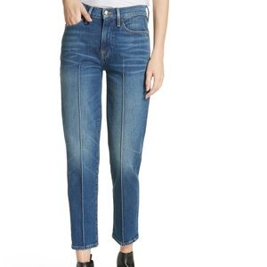 NEW Frame • Le High Straight Pintuck Cropped Jeans